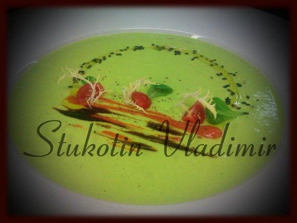 Сыроедческий гороховый крем-суп