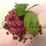 Сыроедческий «Ледянной десерт» со шпинатным печеньем