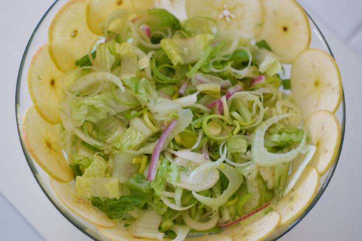 Салат с маринованным фенхелем
