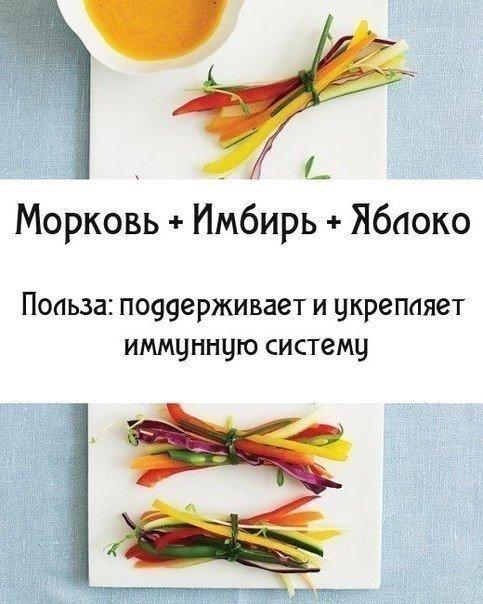Морковь, имбирь, яблоко