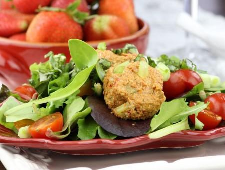 Сыроедческие котлеты из овощей