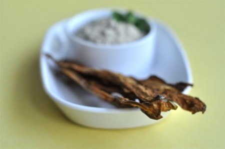 Сыроедческие чипсы из баклажанов