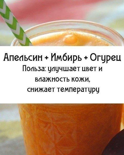 Апельсин, имбирь, огурец