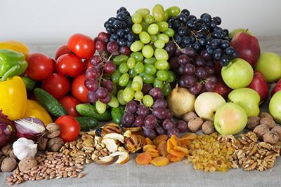 Сыроедческие блюда из зёрен, ягод, фруктов